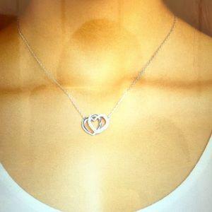 Swarovski silver tone Entwined Hearts Pendant